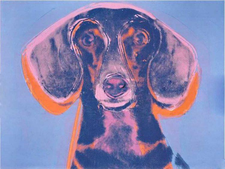 Warhol perro retrato