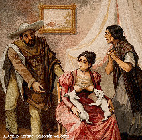 A_woman_breast_feeding_two_puppies_whilst_two_Mexican_peasants_implore_her_to_feed_their_baby_Wellcome_V0015049