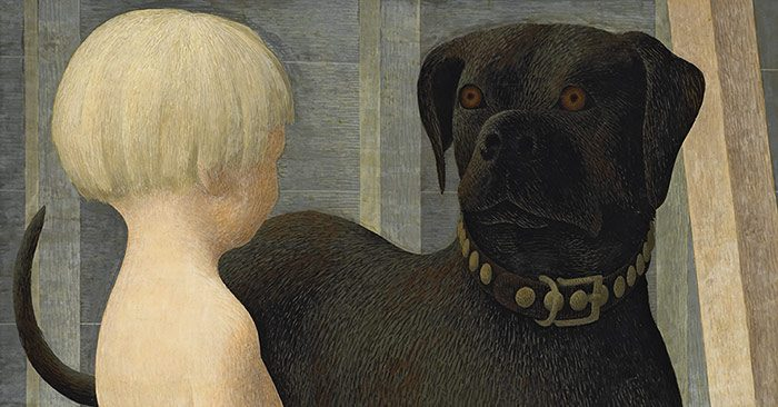child and dog alex colville