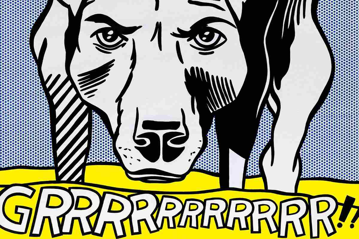 roy lichtenstein dog